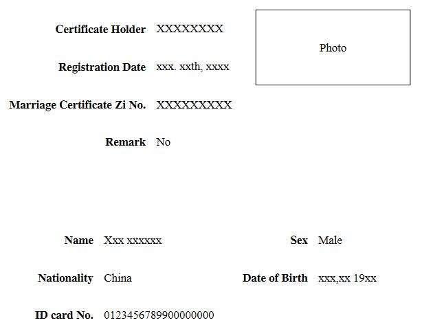 结婚证翻译-签证翻译盖章认证